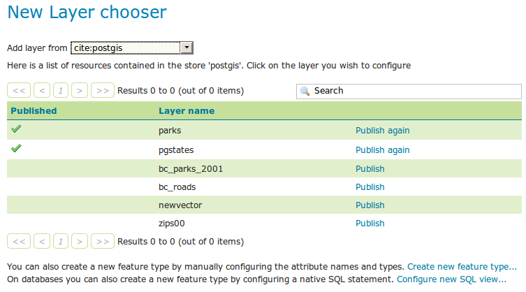 SQL Views — GeoServer 2 14 x User Manual