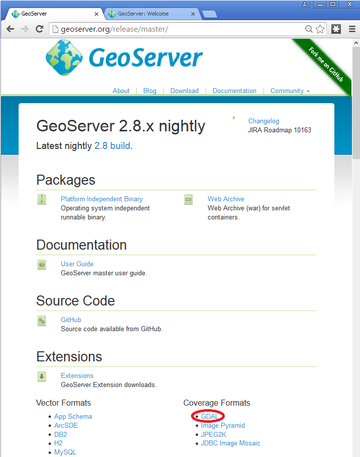 GDAL Image Formats — GeoServer 2 17 x User Manual