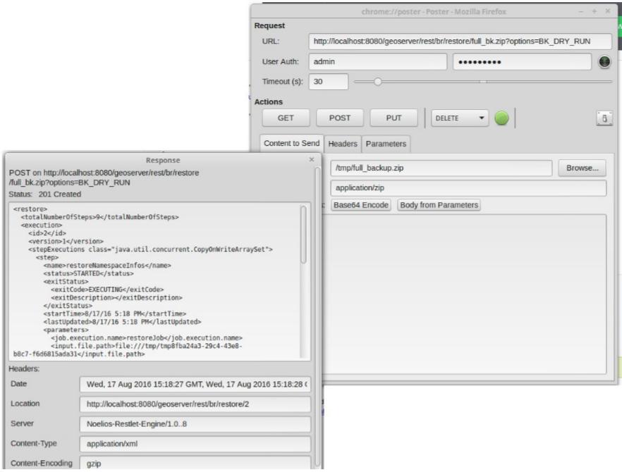 Usage Via GeoServer's REST API — GeoServer 2 17 x User Manual