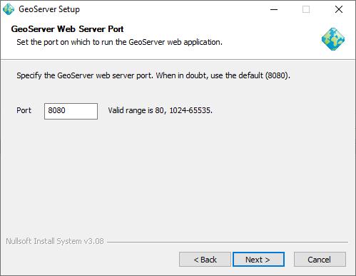 Windows installer — GeoServer 2 14 x User Manual