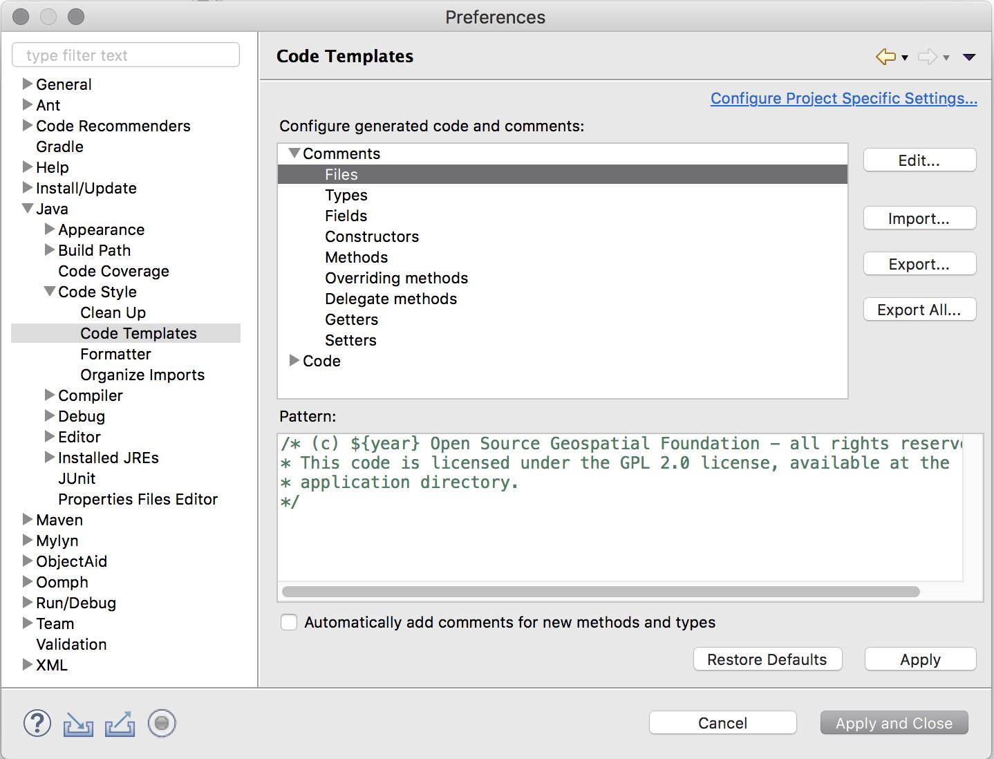 Eclipse Guide — GeoServer 2 16 x Developer Manual