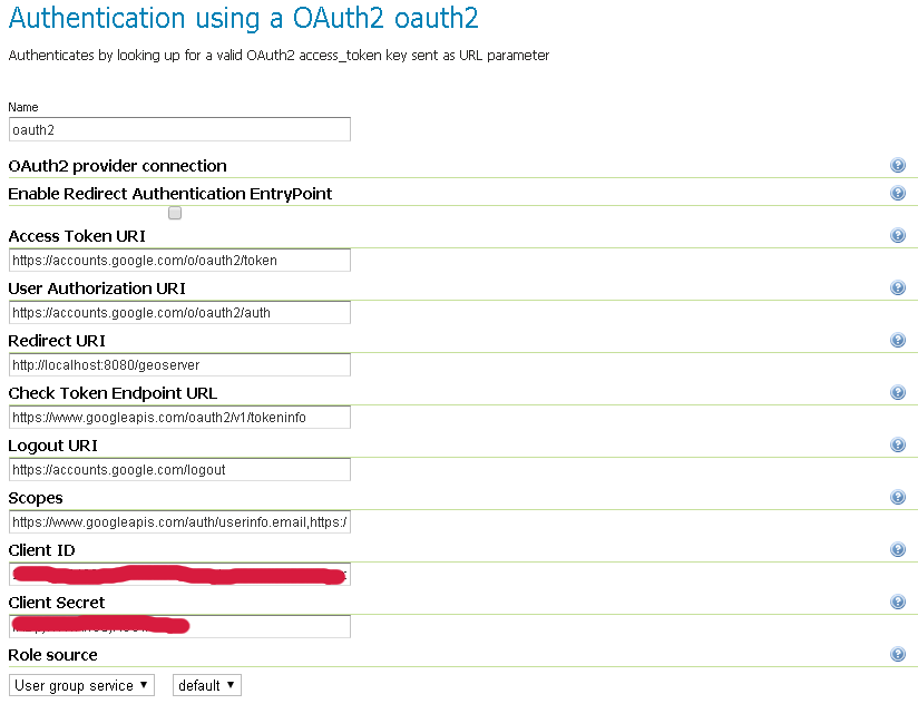 Authentication with OAuth2 — GeoServer 2 15 x User Manual